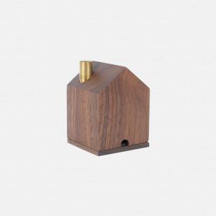 精致趣味 木屋香器香薰炉(细腻榉木/沉静黑胡桃木)