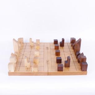 可以拼的中国象棋 | 创意七巧板造型做成的棋子