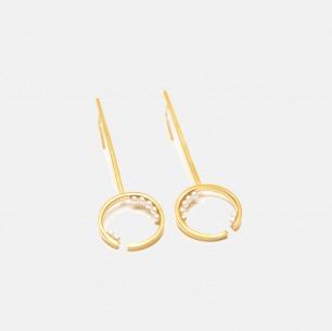 海水小珍珠长耳环 | 手工镶嵌工艺 趣味结合