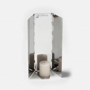 三面镜蜡烛台 | 抛光不锈钢材质 低调神秘