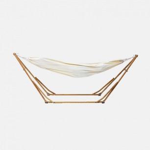 可携式吊床+吊床椅 | 日本原装进口 3WAY独立式木纹质感 【附衣架杆】