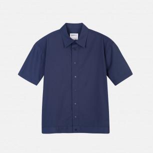 翻领短袖衬衫夹克 | 箱型裁剪 纯棉材质【两色可选】