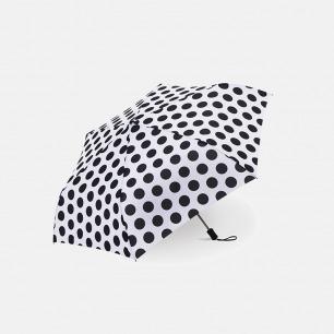 三折晴雨伞 | 黑白波点 超轻便携 仅重170g
