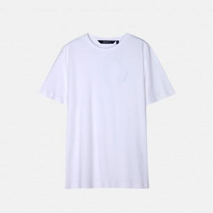 LOGO绣花短袖T恤 | 舒适厚实 不易变形【两色可选】