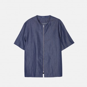 丹宁短袖夹克 | 日本进口面料 经典翻领夹克版型