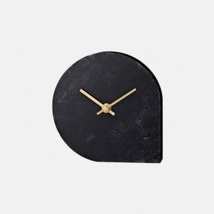 大理石水滴座钟 | 搭配黄铜指针 别致优雅
