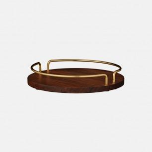 VITTA 胡桃木黄铜托盘 | 天然纹路 质感丰富有格调
