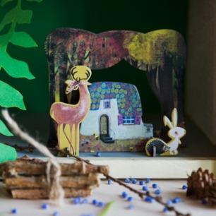 森林之屋纸模型 趣味拼装 | 源自荷兰的纸品艺术