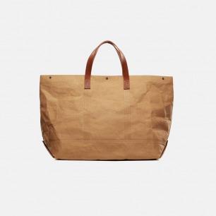 水洗纸加牛皮托特袋 | 一个包包 两个造型