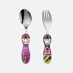 儿童卡通餐叉组合套装 | 手绘设计风格 创意餐具