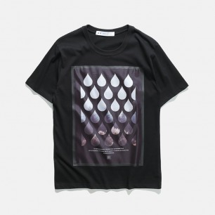 激光切割无缝压胶印花T恤   17S/S CREW-NECK PRINTED TEE