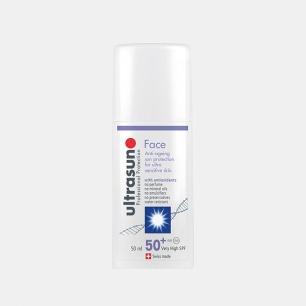 U佳面部专用防晒乳 SPF50+ | 世界顶级专业防晒品牌 独特抗衰老技术  防皱纹防晒黑