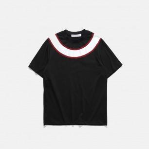 17S/S ALLROUND CUTSEW 圆形切割拼接T恤   大廓形设计 简约线条