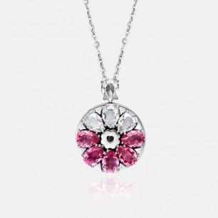 桃花蔷薇吊坠项链 绽放系列   智能珠宝 用首饰传递心意