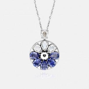 黛蓝吊坠项链 绽放系列   智能珠宝 用首饰传递心意