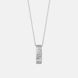 光影系列银锆石创意项链 | 错影成字 给ta一份爱的惊喜