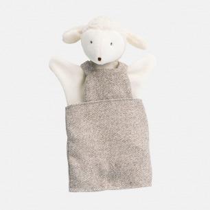 背带裙软萌小羊手偶   形象可人,做工考究