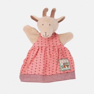 粉色裙子小山羊手偶   形象可人,做工考究