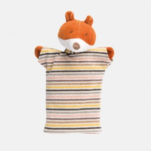 条纹T恤小狐狸手偶   形象可人,做工考究
