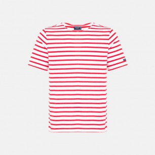 圆领全面T恤 全条纹白底红条 | 条纹衫鼻祖 众多明星同款