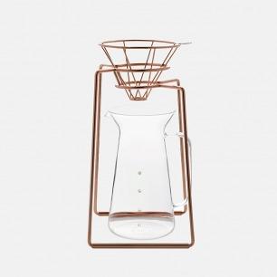 HAND系列咖啡手冲架组 | 几何线条简约美感红铜曲线