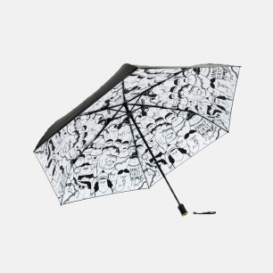 【I CAN】三折黑胶伞 | Flabjacks Puff Ville 联名设计