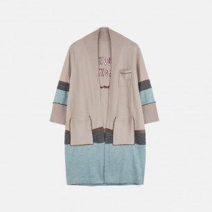 睡衣型条纹女款开衫 | 居家睡衣风格【情侣款】