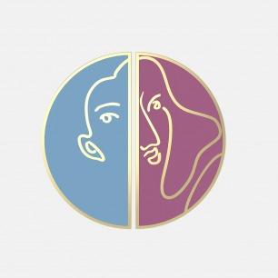 双拼色珐琅人脸耳环 | 别出心裁的美学形式