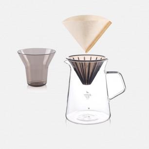 手冲咖啡与茶冲煮分享壶套装 | 快速冲煮 一体收纳