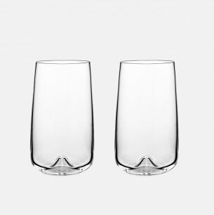 北欧简约玻璃杯x2 | 用它喝水都觉得很高级