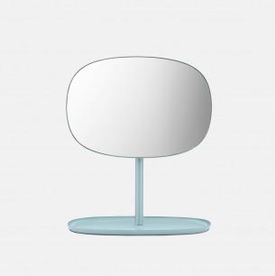 极简优雅的翻转化妆镜 | 可旋转可收纳 亲和力强