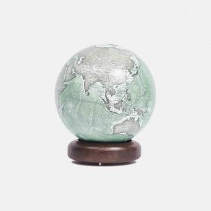 实木标准圆底地球仪【灰绿色】 | 契合现代美学