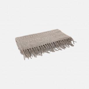 刺绣流苏羊毛毛毯 | 100%纯墨西哥羊毛