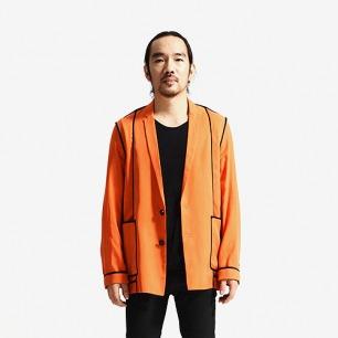 未标题原创设计 男士桔色休闲西装