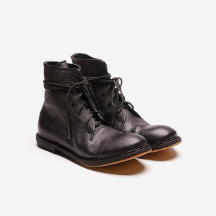 植鞣牛皮绑带皮靴