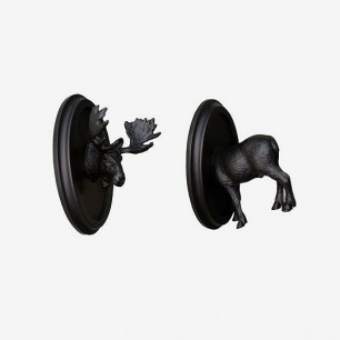 Charles Marie - Trophy Hangers 黑色雄鹿装饰挂勾