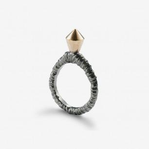 Ros Millar Grow Ring 黑铑+玫瑰金戒指
