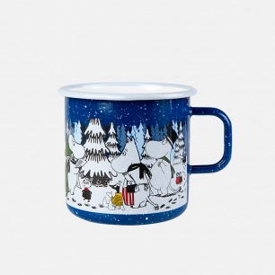 圣诞系列冬季森林搪瓷杯   温暖冬季每一刻