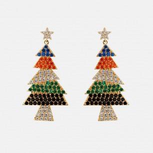 圣诞耳环 | 铜镀黄金小巧别致