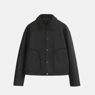 羊羔绒翻领大口袋夹克 | 男装设计品牌