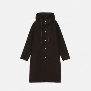 100%羊毛双面呢带帽大衣 | 男装设计品牌