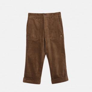复古坑条灯芯绒八分裤 | 男装设计品牌