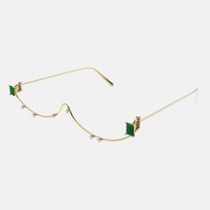 半框装饰眼镜 | 祖母绿宝石 众多明星同款