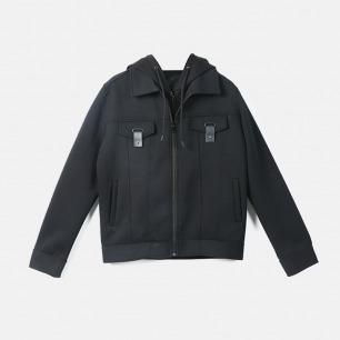 带帽假两件短夹克 | 纽约时装周设计师品牌