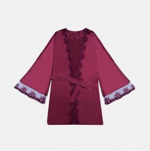 殷红蕾丝绑带 真丝睡袍 | 女爵也有温柔的一面