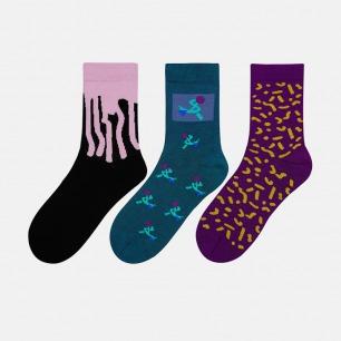 趣味系列纯棉袜 | 抽象图案 时髦趣味