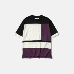 色块拼接半袖T恤   新款Maze系列新卫设计