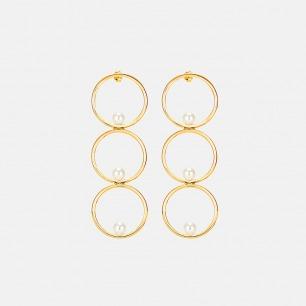 三环贝珠耳环 豌豆系列 | 简约优雅 原创设计