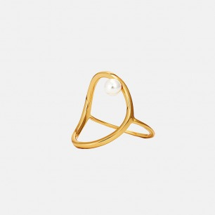 豌豆戒指 原创设计 | 简约百搭 与贝珠完美结合