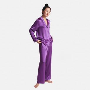 真丝睡衣套装-星空紫 | 居家服也可外穿 送眼罩